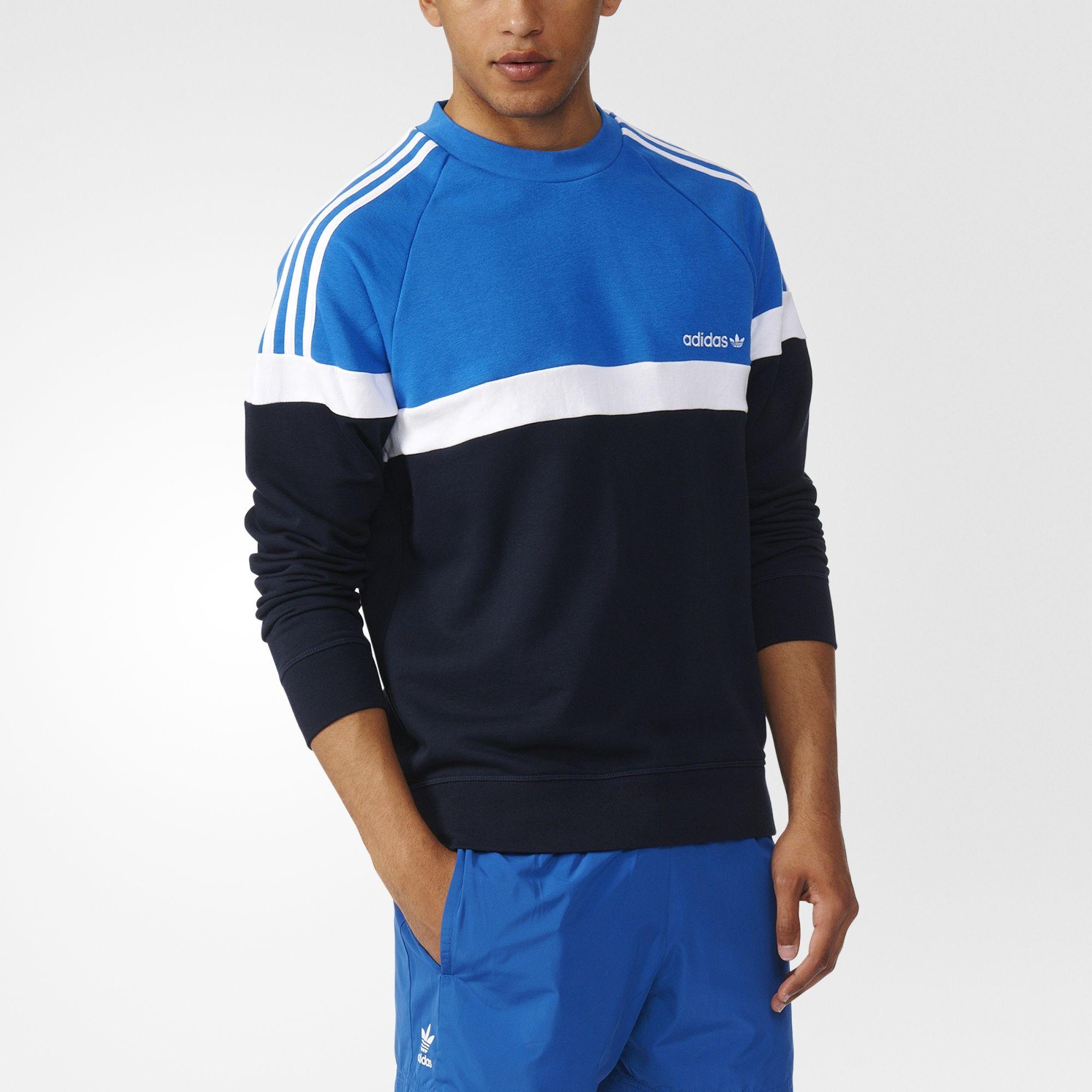 sweat adidas bleu
