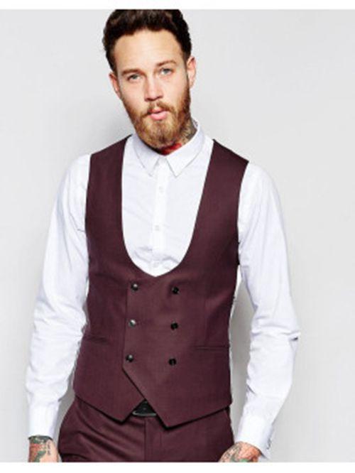 États Unis style de mode liquidation à chaud Gilet costume homme croisé - fermeleycaut.fr