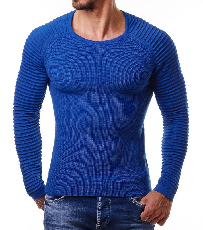 nouveau produit 2ce66 75bfc Pull homme bleu - fermeleycaut.fr