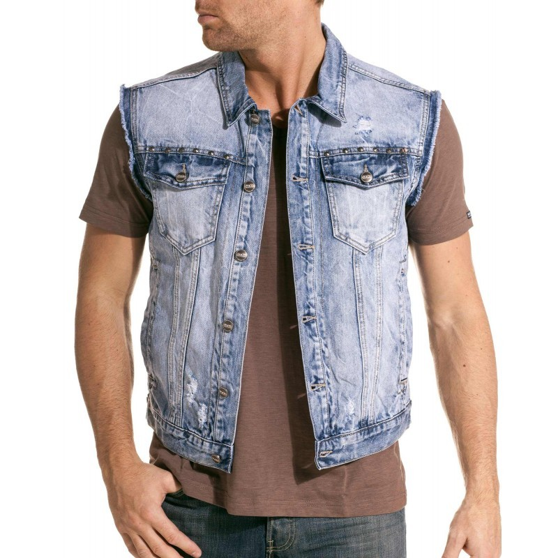 affordable price order reasonable price Gilet sans manche homme grande taille jeans - fermeleycaut.fr