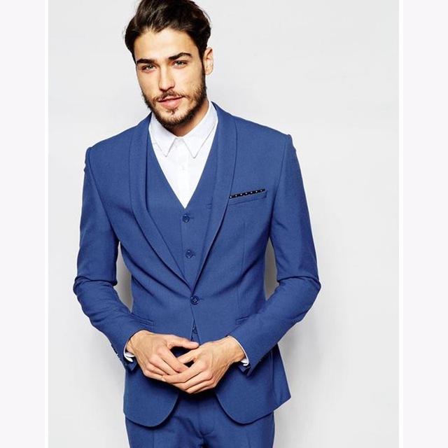 Costume homme bleu roi mariage