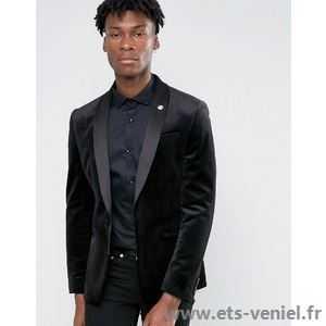 Costume velours homme noir