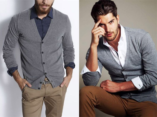 Cardigan style homme