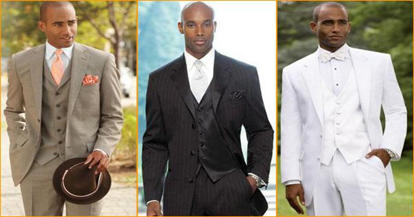 Costume mariage homme noir et blanc