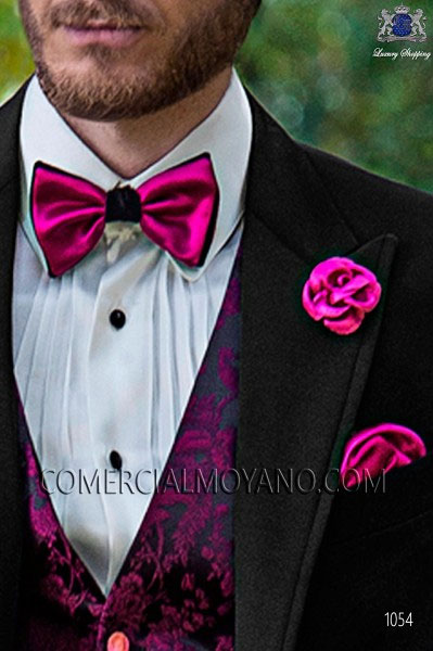 Costume Homme Mariage Noir Et Rose Fermeleycaut Fr