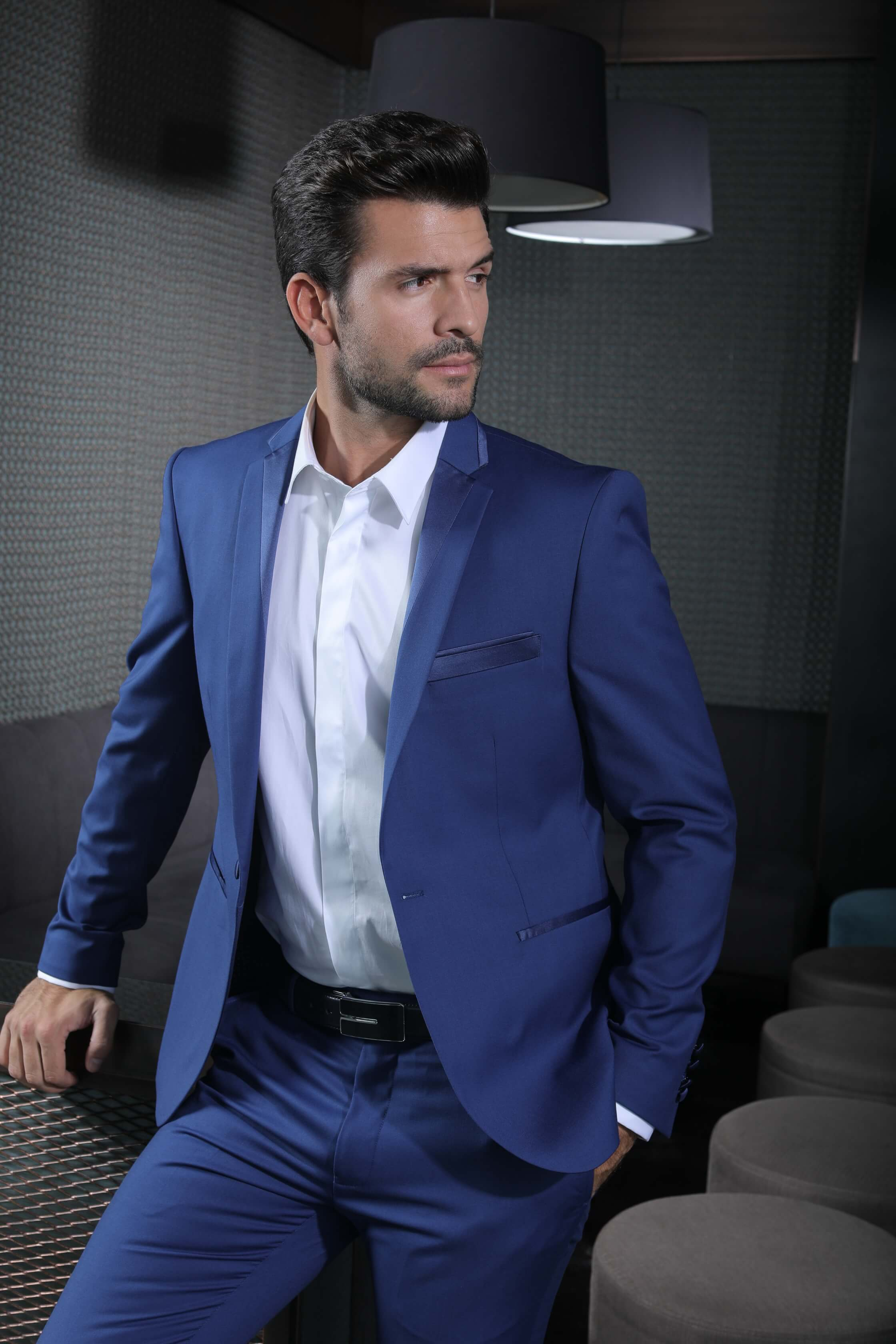 Costume homme mariage slim bleu - fermeleycaut.fr 70201cf1de0