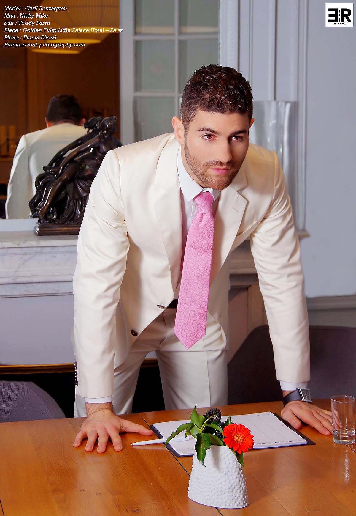 Costume mariage homme blanc et rose - fermeleycaut.fr d808a49a38e