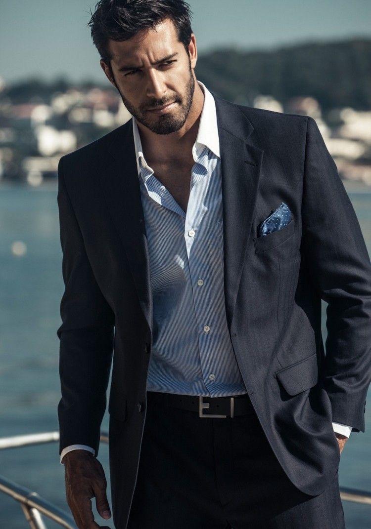 meilleur pas cher 08cd6 b808d Costume noir homme chemise bleu - fermeleycaut.fr