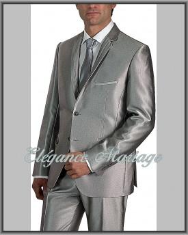 Costume Homme Costume Gris Satiné Gris Satiné Homme Costume Gris Satiné Fl1KJc