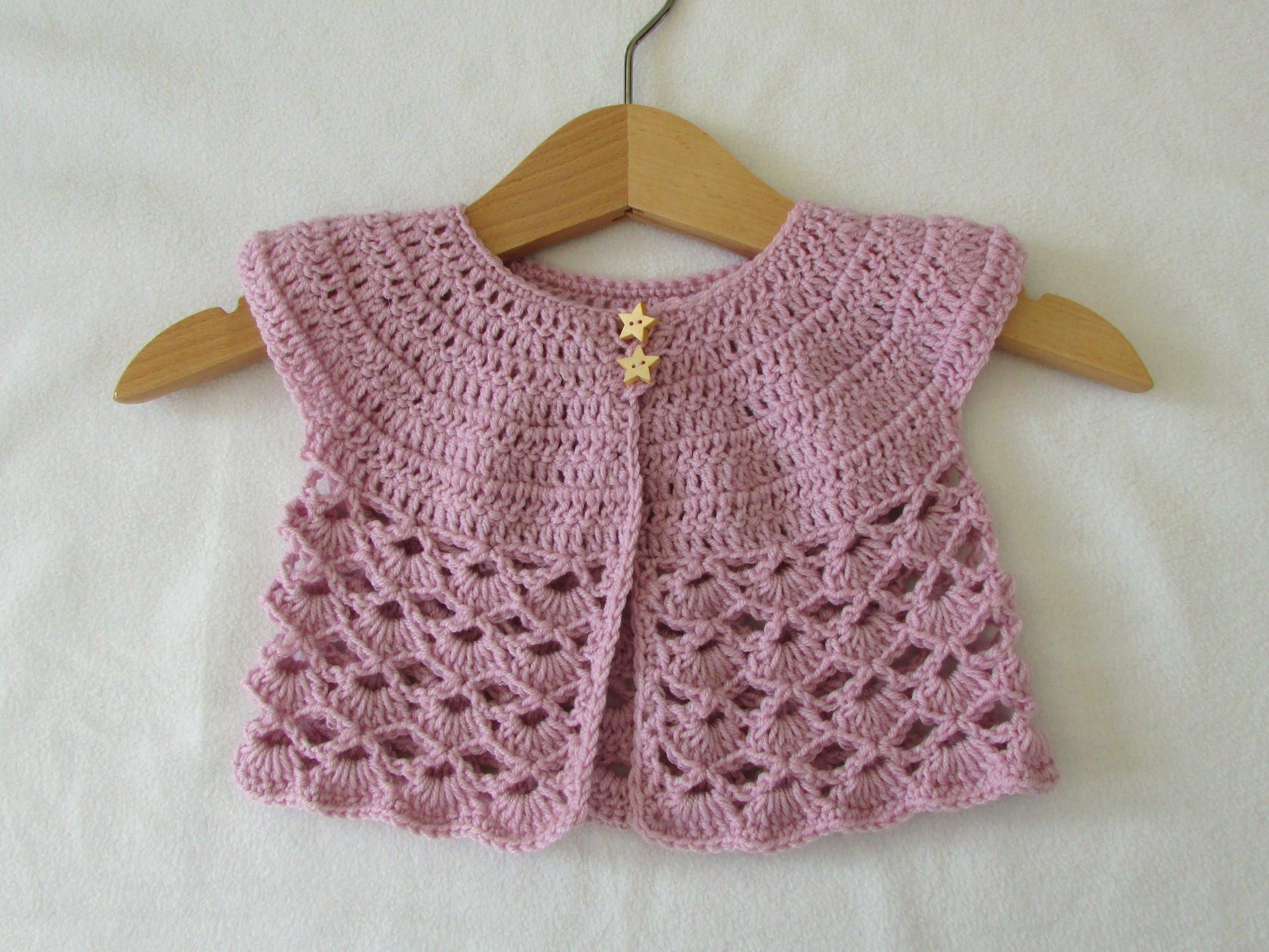 Easy to crochet baby cardigan