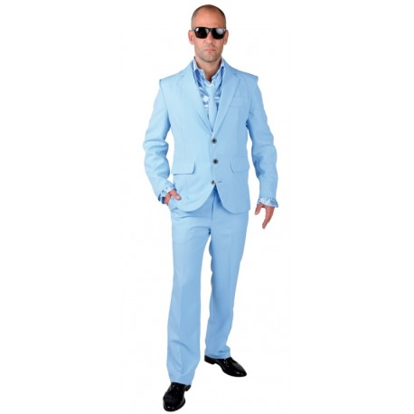 Costume homme bleu luxe