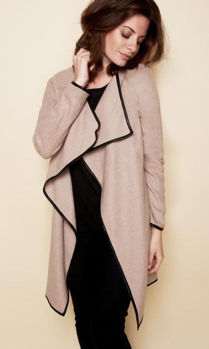 Cardigan femme laine long