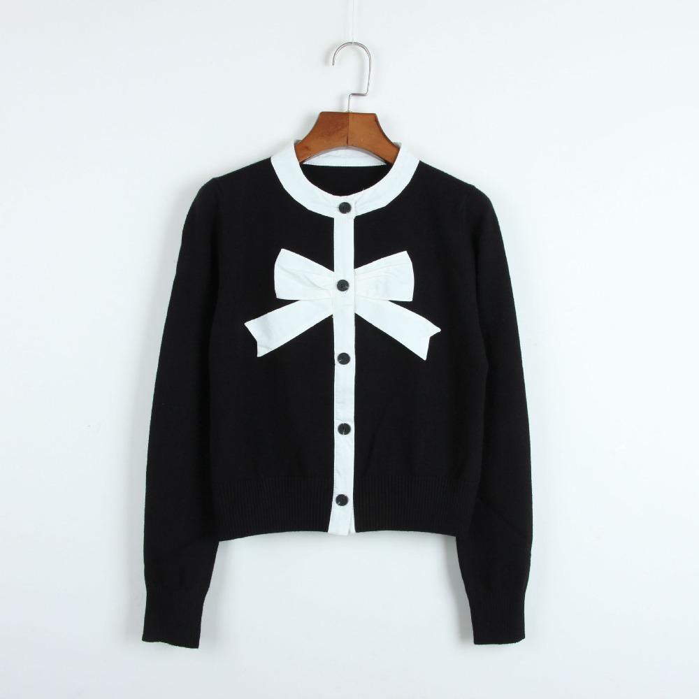 Short black cardigan