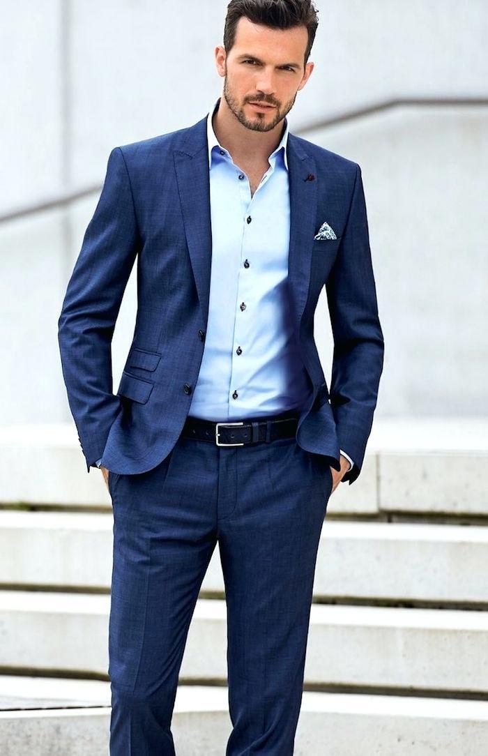 Modele de costume homme bleu - fermeleycaut.fr 8100012f2b7