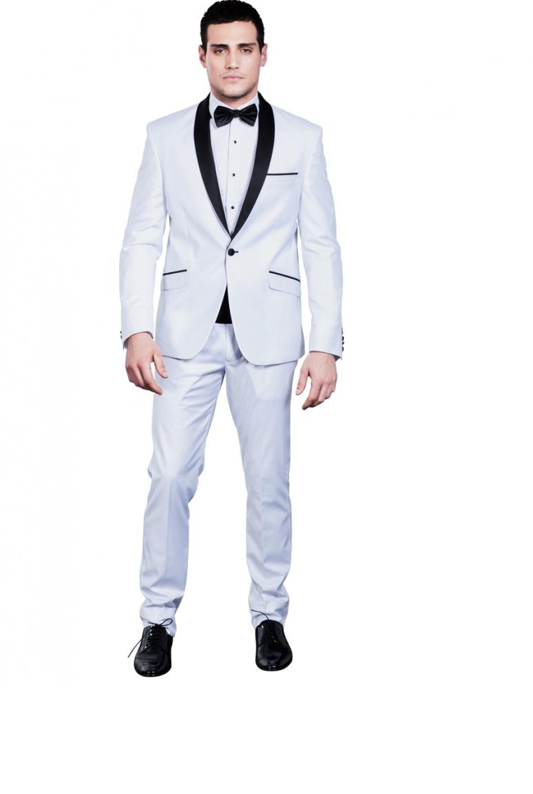 Costume homme blanc et noir mariage - fermeleycaut.fr 2ccf4873c22