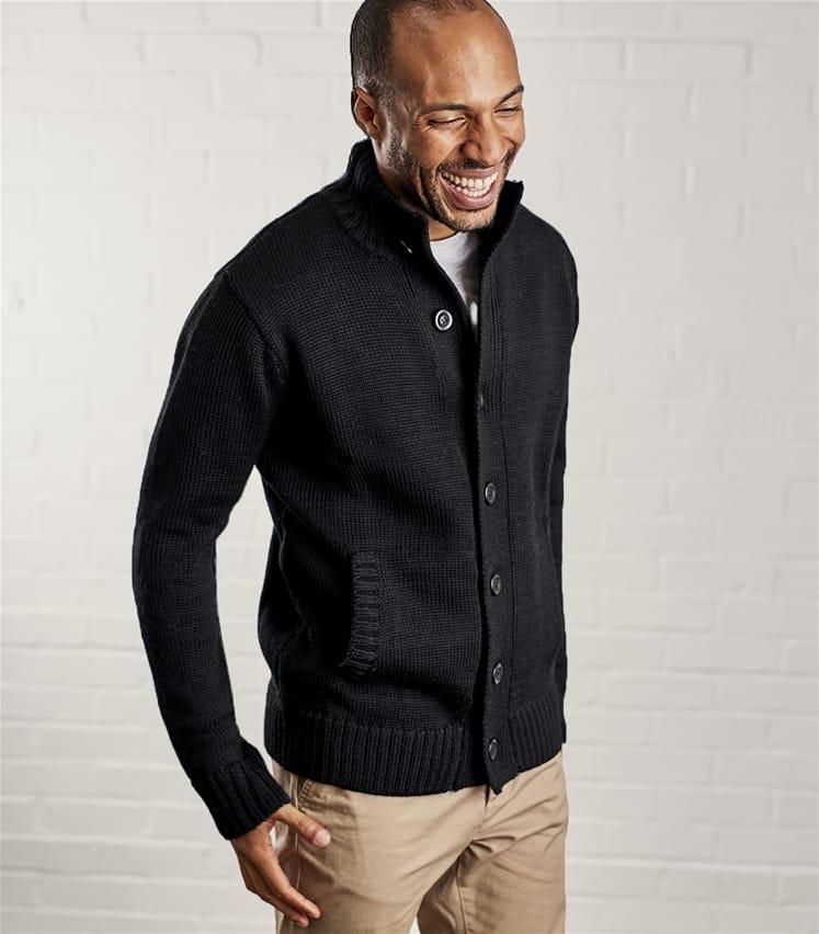Wool overs long cardigan