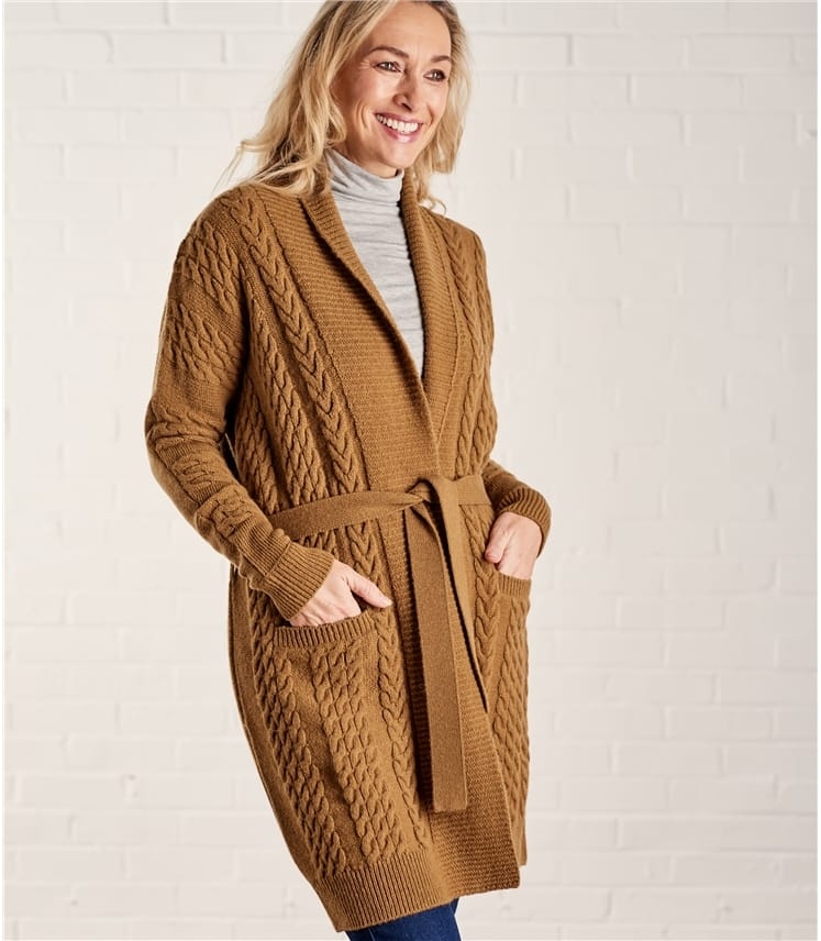 Woolovers belted cardigan