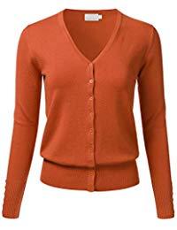 Orange cardigan for women