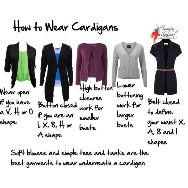 O shaped cardigan
