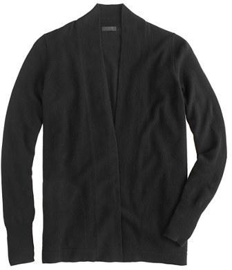 J crew black cashmere cardigan