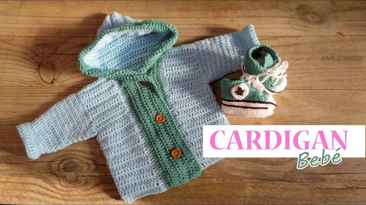Cardigan bebe a crochet