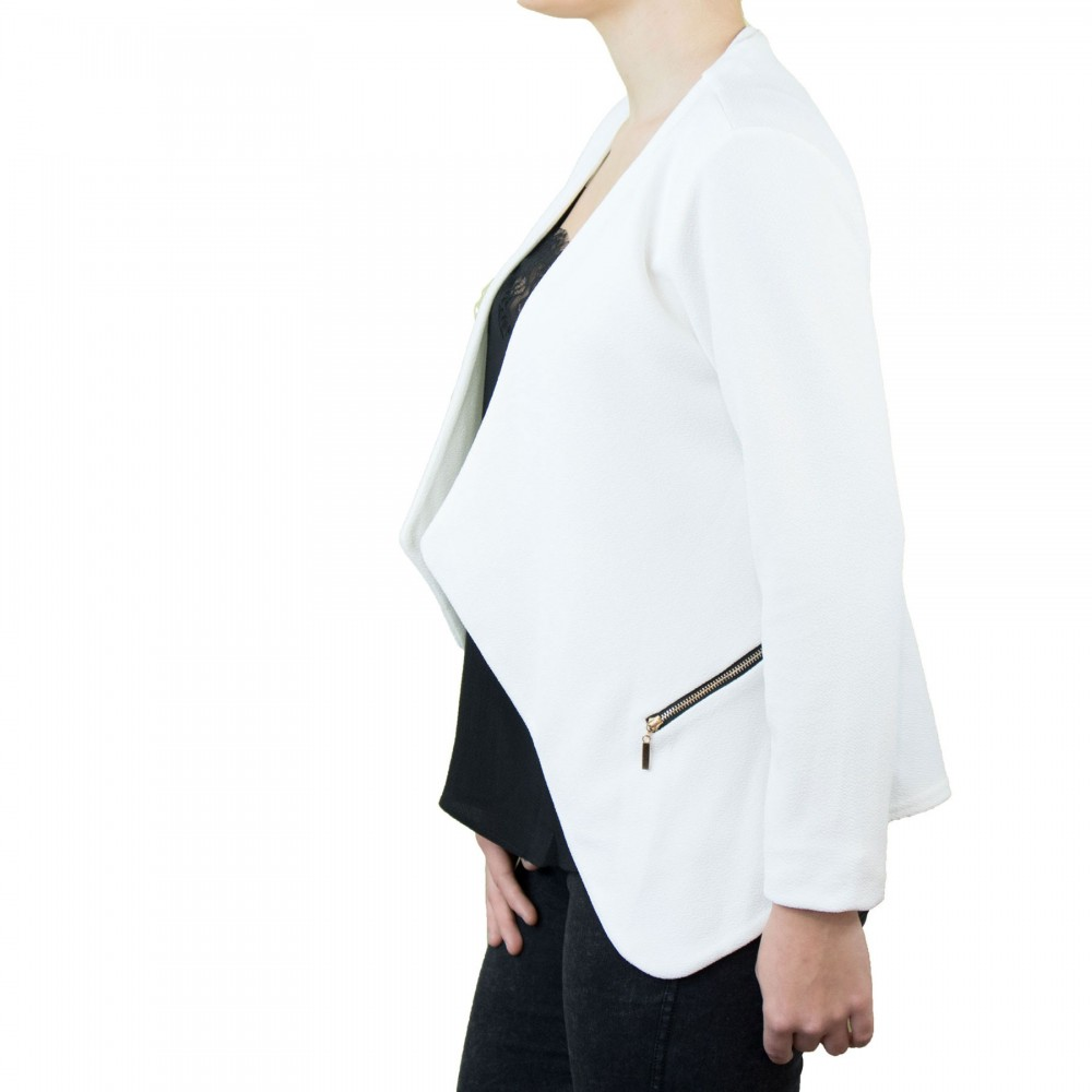 online store 9e6b1 051e5 Veste blazer femme blanc