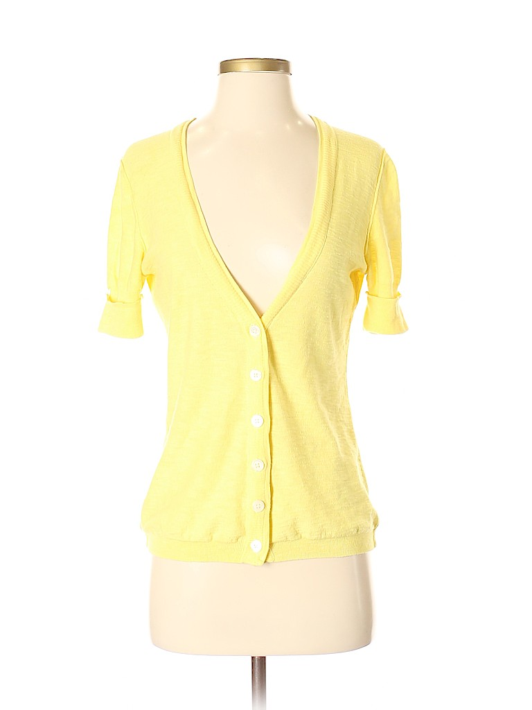 Banana republic yellow cardigan