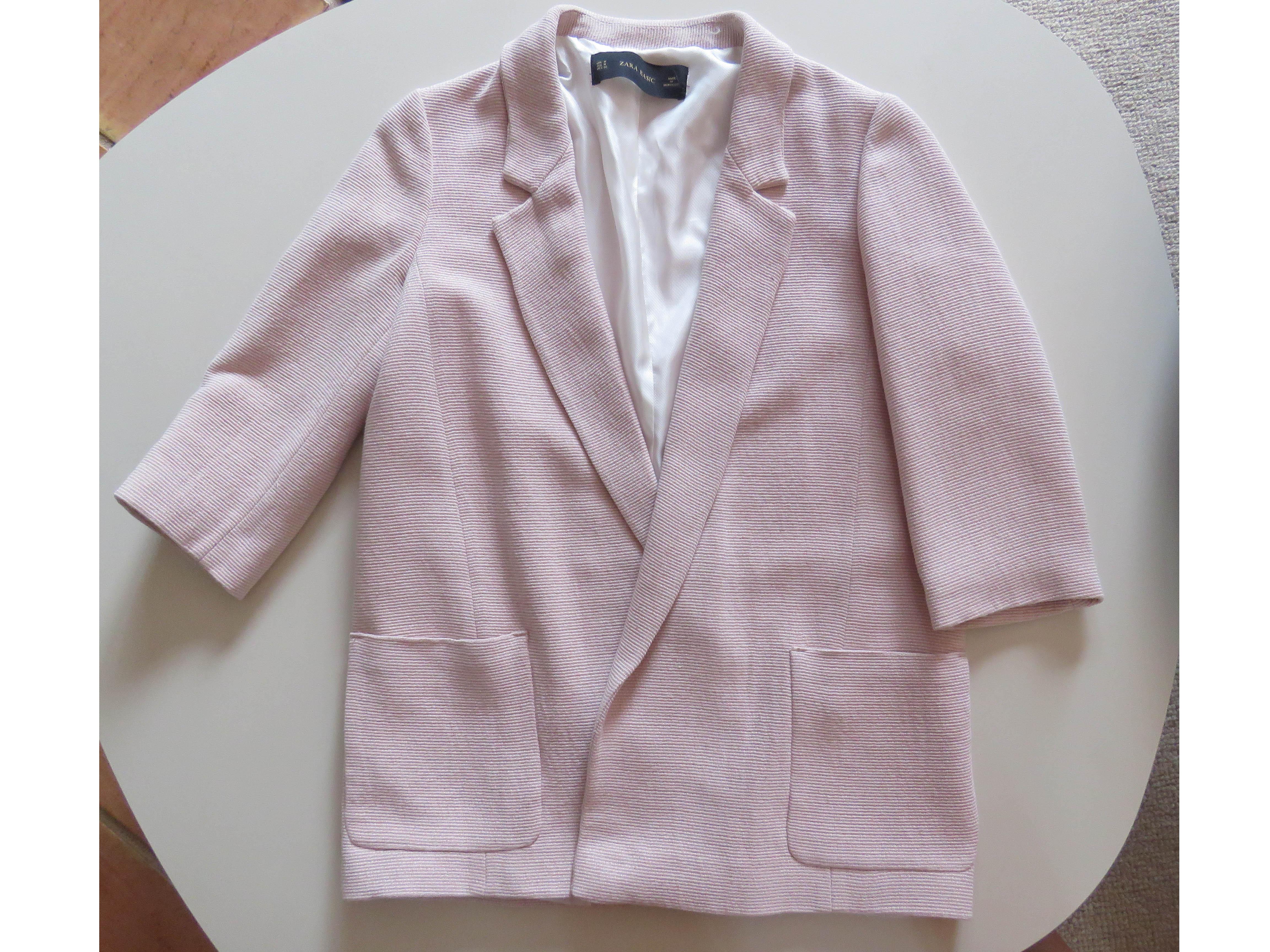 Veste blazer rose pale