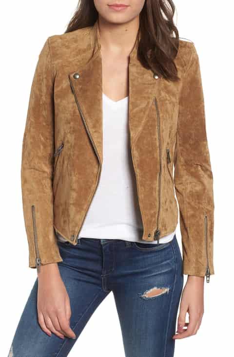 Womens brown leather blazer