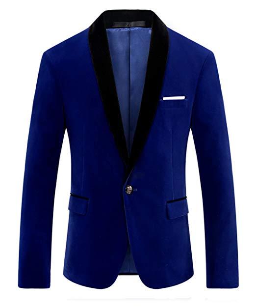 Blazer blu uomo