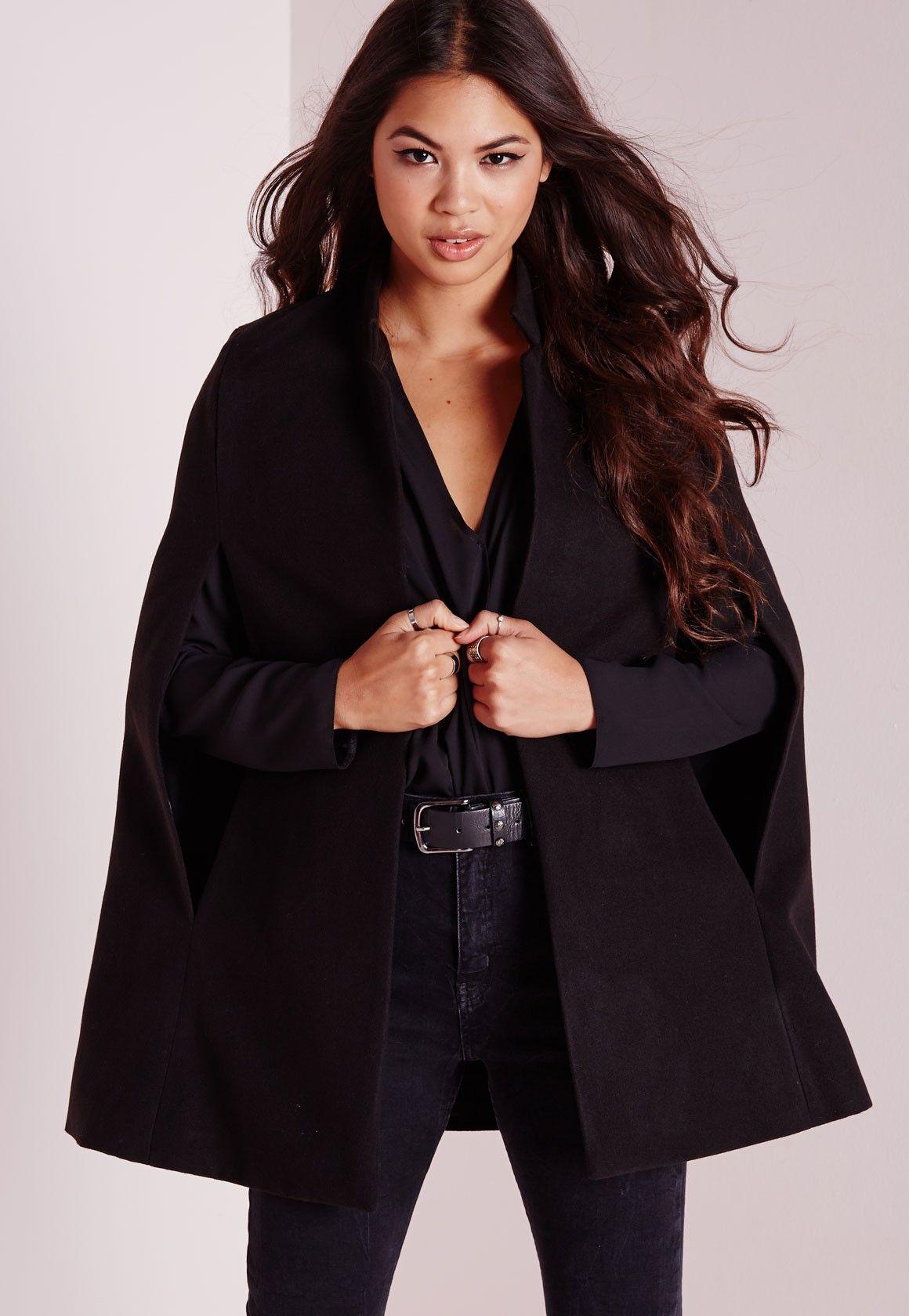 Blazer cape noir missguided