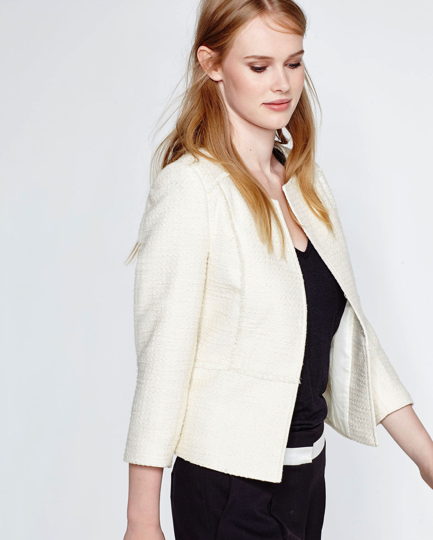 Veste blazer blanc cassé