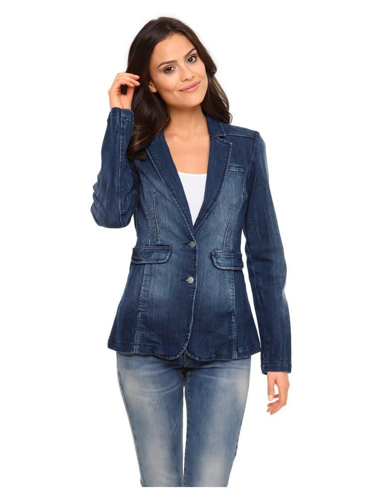 vest blazer et jeans femme