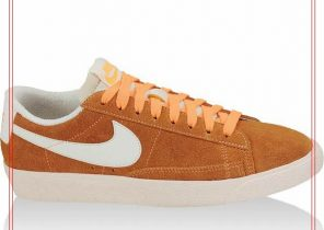nike blazer low femme orange