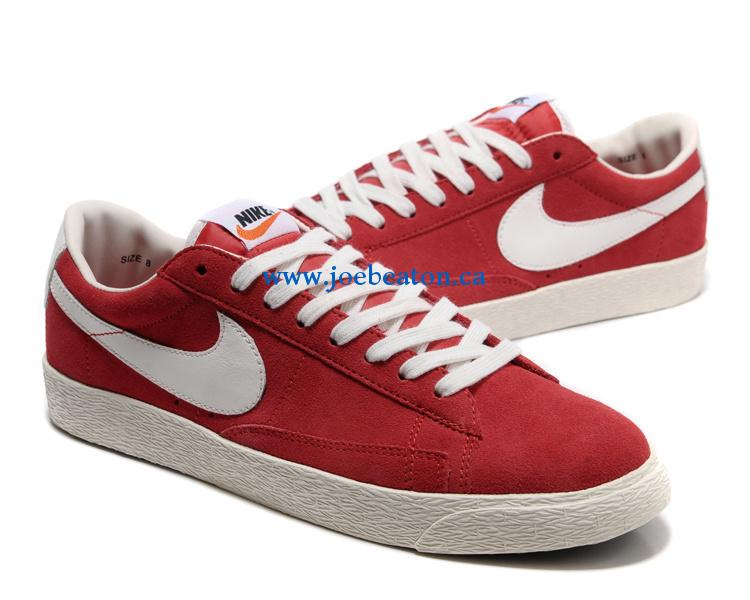 Nike blazer low red white