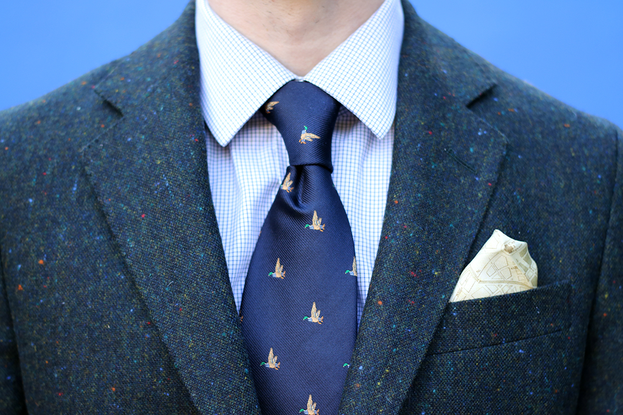 Donegal tweed blazer