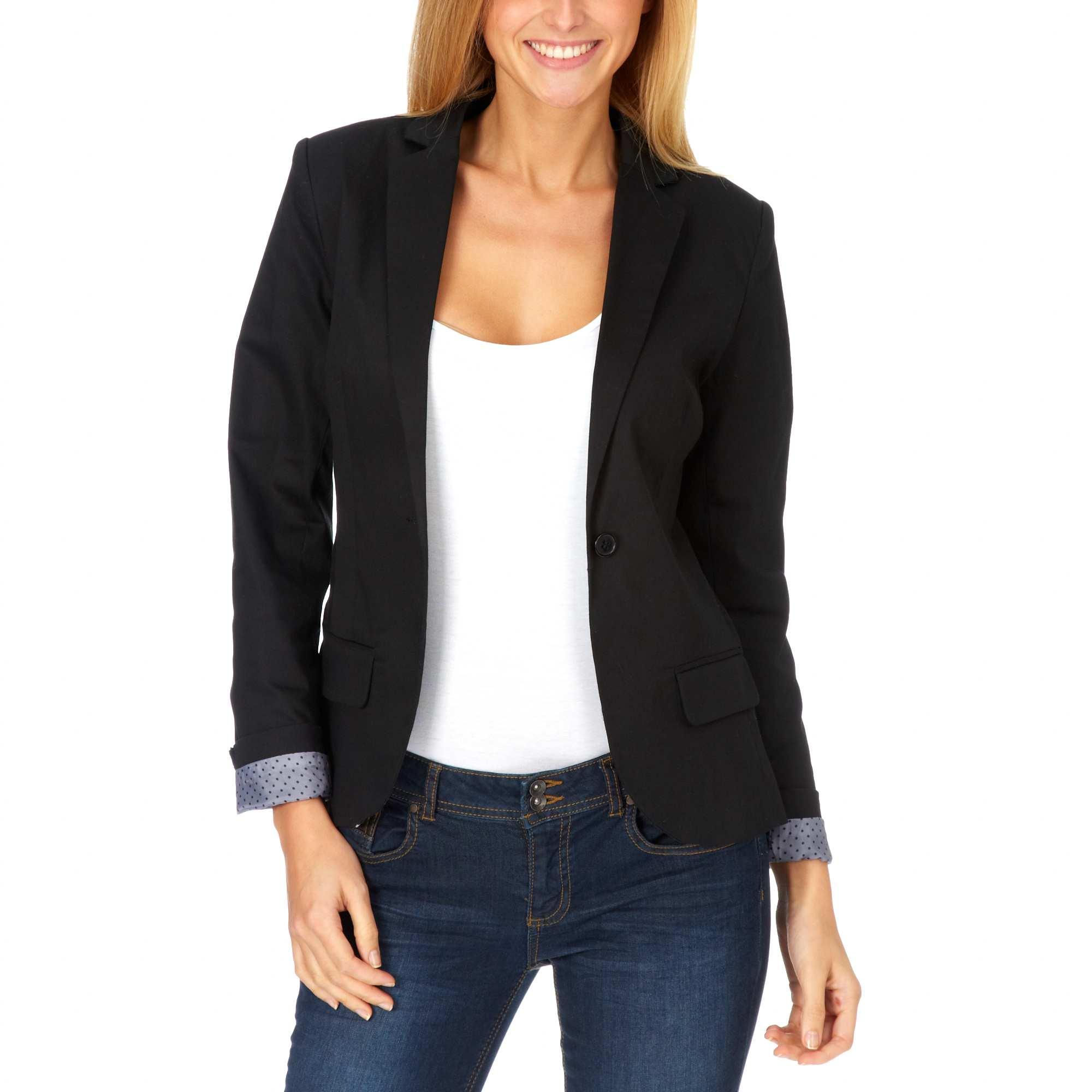 nouveaux styles f2778 28812 Comment porter un blazer noir femme - fermeleycaut.fr