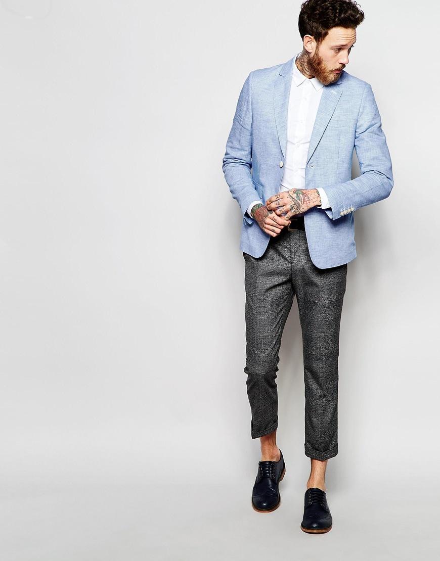 Tee shirt avec blazer