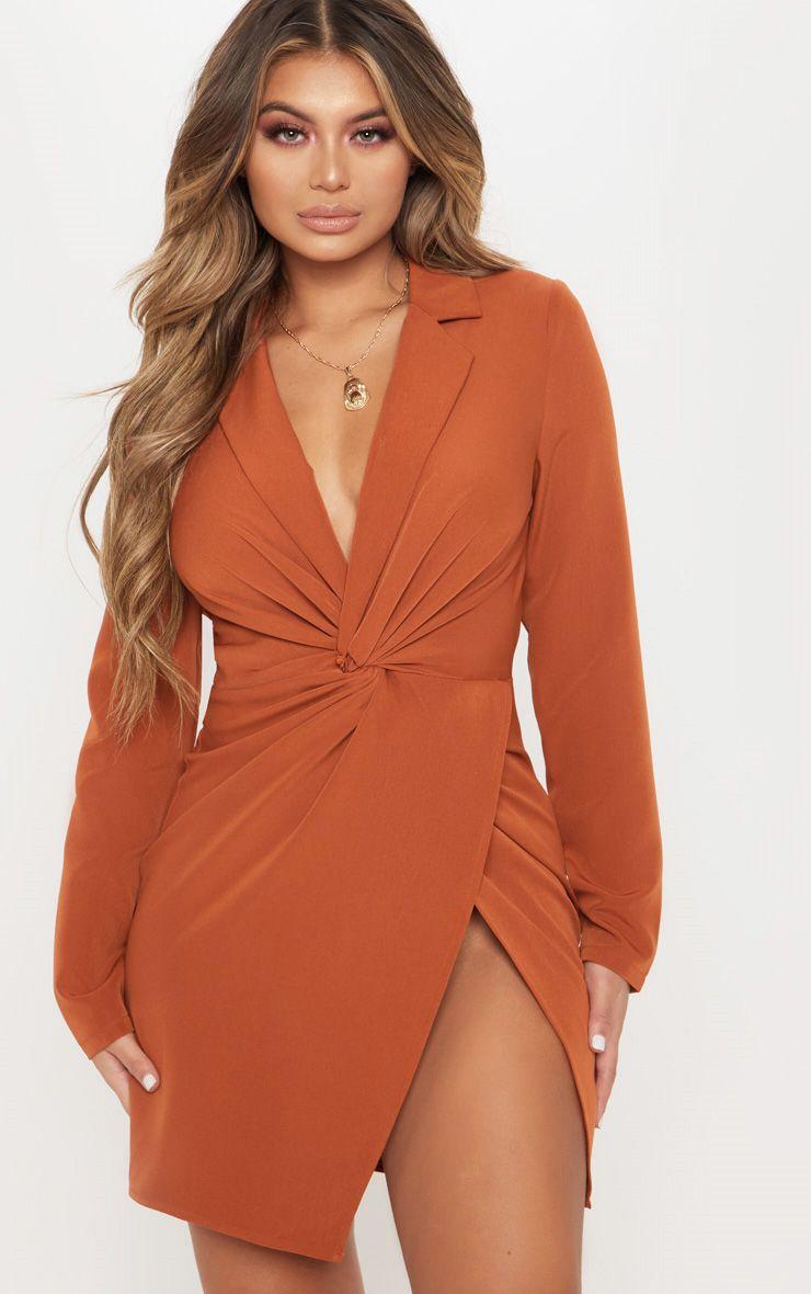 Robe blazer orange