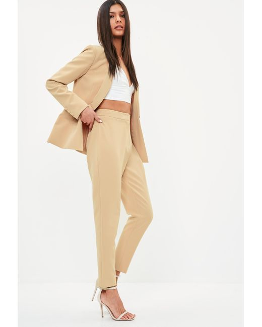 Blazer nude missguided