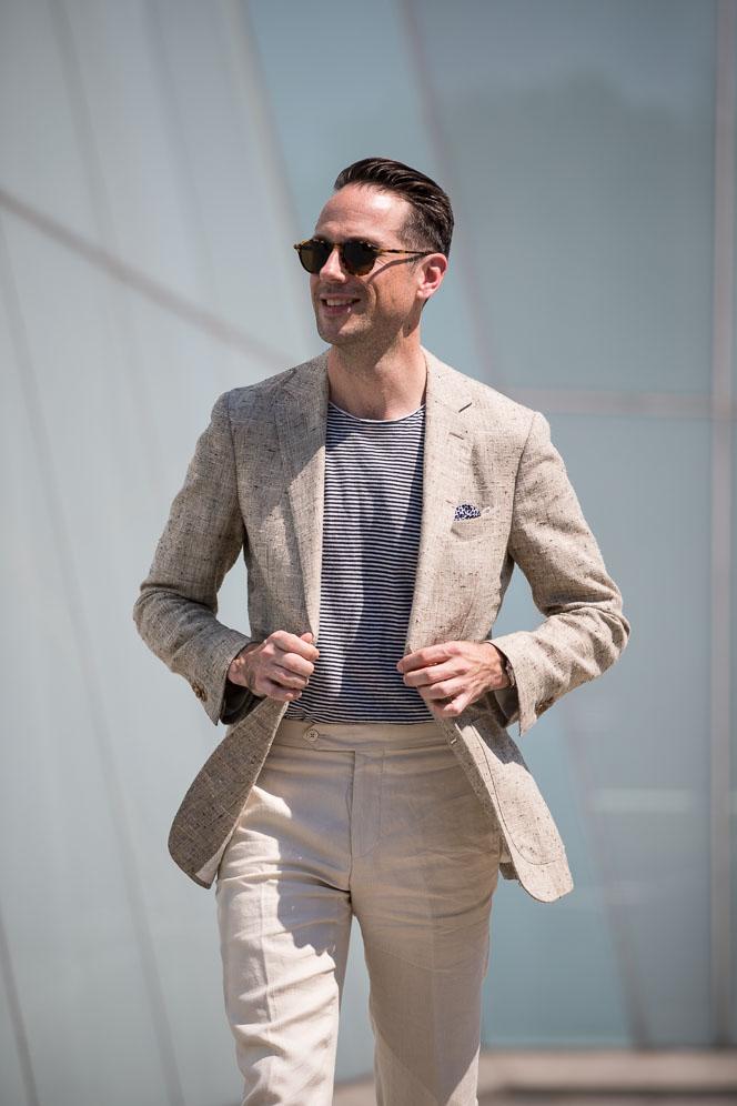 T shirt avec blazer