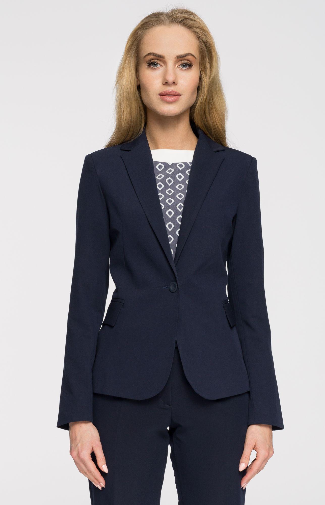 Veste bleu blazer femme